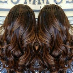 Brown highlights balayage