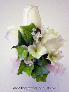 Corsage (add blue ribbon) for ladies!