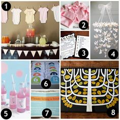 10 Brilliant Baby Shower Ideas. Where we're these last year when I planned 3... So cute!