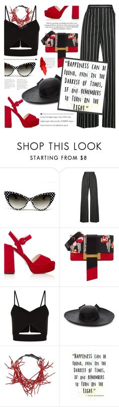 """Turn on the light: be bold in stripes"" by jan31 ❤ liked on Polyvore featuring Balenciaga, Prada, Racil, Sensi Studio, Brunello Cucinelli, Maybelline, stripes and stripedpants"