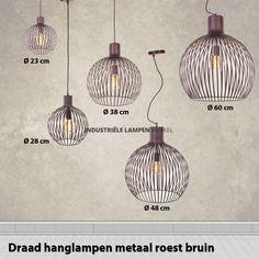 Draadlamp XXL bruin Ø 60cm