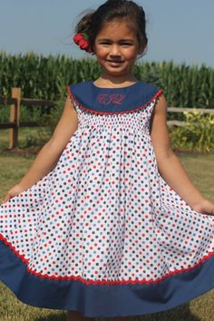 Ellie Inspired Nantucket Girl Dress PDF Sewing Pattern - Pattern Marketplace by DIY Crush Little Dresses, Little Girl Dresses, Cute Dresses, Girls Dresses, Toddler Dress, Baby Dress, Clothing Patterns, Dress Patterns, Baby Sewing