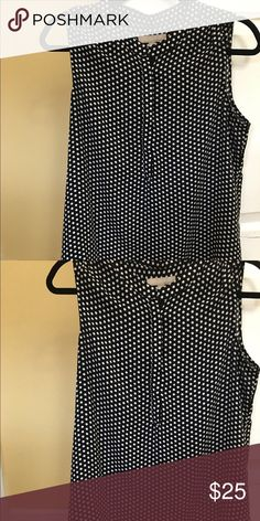 Sleeveless polka dot top Botton down silky blouse. Worn once. Banana Republic Tops Blouses