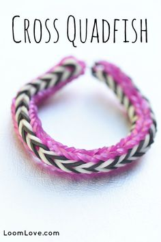 How to Make a Cross Quadfish on the Monster Tail #rainbowloom #monstertail