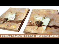 Patina Rusted Cards ♥ With Tim Holtz Distress Oxide Inks - YouTube
