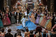 Check out two new Cinderella clips featuring Lily James, Richard Madden and Helena Bonham Carter as well as 25 images from the upcoming Disney film. Cinderella Live Action, Cinderella 2015, New Cinderella Movie, Cinderella Ballgown, Lily James, Just Dance, Walt Disney, Disney Magic, Disney 2015