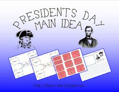 Presidents Day Main Idea Mix Up (free printable) from Simply Centers