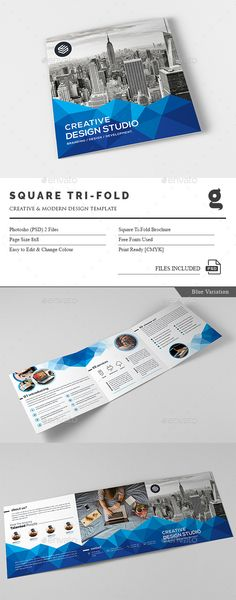 Multi Square Tri-Fold Brochure Template PSD. Download here: http://graphicriver.net/item/multi-square-trifold-brochure/16091136?ref=ksioks