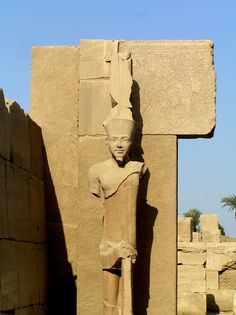 Ancient Egyptian precinct of Amun-Re at the Temple of Karnak.