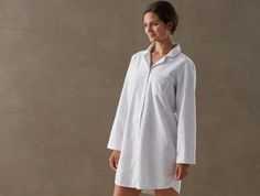 Women's Cloud Brushed Flannel Sleep Shirt
