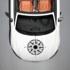NAUTICAL SEA COMPASS ROSE HOOD CAR VINYL STICKER DECALS GRAPHIC MURALS SV2459