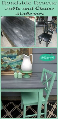 ART IS BEAUTY: Vintage MINT Roadside Rescue Table and Chairs Makeover
