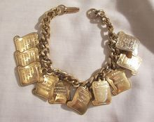 Moms 7 day super sale 15% off storewide ends 5/9 discount taken at purchase or refunded. 4 vintage only visit my Lane shop   Lovely Vintage 10 commandant Charm Bracelet