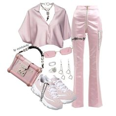 A fashion look from February 2018 featuring cropped shirts, skechers shoes and engraved rings. Browse and shop related looks. Kpop Fashion Outfits, Stage Outfits, Mode Outfits, Girly Outfits, Cute Casual Outfits, Stylish Outfits, Look Fashion, Street Fashion, Mode Kpop