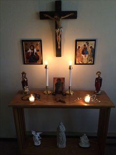 quirky home decor home decor diy cottage home decor Prayer Corner, Prayer Wall, Prayer Room, Home Altar Catholic, Altar Design, Altar Decorations, Fashion Room, Bedroom Decor, House Design
