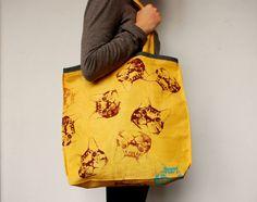 Yellow Tote bag Los Pajaritos Shop $17.99