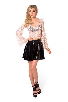 Amelia Blush Crop - LIMITED by Black Milk Clothing $75AUD