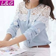 Cheap blouse shoulder, Buy Quality shirts for short guys directly from China shirt Suppliers: 2014 Spring And Summer Women Blouse Long Sleeve Hollow Out Lace Blusas Lace Patchwork Chiffon Shirt Blouse Lace Shirt Mode Outfits, Fashion Outfits, Womens Fashion, Mode Hijab, Chiffon Shirt, Mode Inspiration, Lace Tops, Shirt Blouses, Shirts