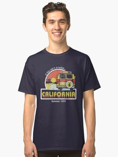 California t-shirt Retro Surf Surfing t-shirt Vintage Van Surfer Distressed top best graphic novelty t shirt, tee shirt, Vintage Vans, Retro Vintage, Retro Surf, Surf Shirt, Tee Shirts, Tees, Spring Break, Tshirt Colors, Classic T Shirts