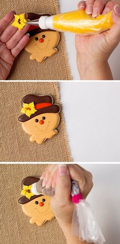 How to Make Fun Scarecrow Cookies with Video | The Bearfoot Baker