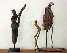 High Kick found art sculpture anthropomorphic by CrowCreekVintage
