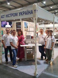 #Tajima al #KyivFashion, festival internazionale della moda e del tessile in Ucraina, in corso fino a venerdì. Immagini dallo stand dei colleghi ACG Nystrom #TajimaFamily #Ukraine