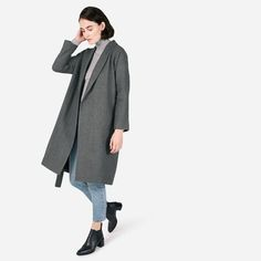 The Belted Wool Shawl Coat - Everlane