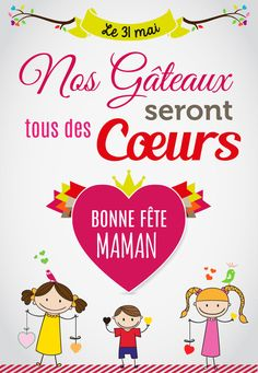 Dites-lui Bonne Fête Maman... avec un gâteau COEUR gourmand - http://www.boulangeriemassaintpierre.fr/dites-lui-bonne-fete-des-meres-avec-un-coeur-gourmand.php