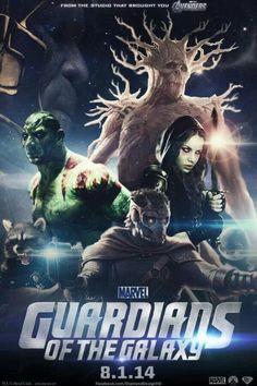 Marvel Guardians Of The Galaxy Movie Poster! - #guardiansofthegalaxy #marvelcinematicuniverse #kurttasche