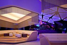Orbit Design Studio designed the beautiful interior of Allure Night Club. Allure Night Club is located in Abu Dhabi. Source: Via Inspiration Grid Lounge Design, Design Club, Design Studio, Grid Design, Abu Dhabi, Lounge Club, Bar Lounge, Rooftop Lounge, Hookah Lounge