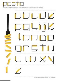 tipography pasta