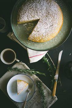 Rosemary Semolina Olive Oil Lemon cake