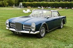 Facel Vega Facel 2 à Chantilly Arts et Elegance #MoteuràSouvenirs Reportage :  http://newsdanciennes.com/2016/09/05/chantilly-arts-et-elegance-2016-creme-creme/ #ClassicCar #VintageCar #Voiture #Ancienne
