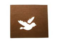 Vintage Japanese Stencil Bird Flying by VintageFromJapan on Etsy, $8.00