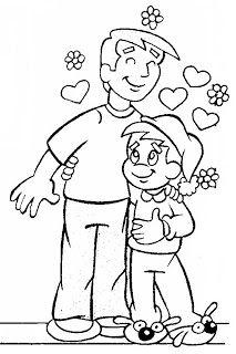 MINISTÉRIO BÍBLICO INFANTIL VIRTUAL_por KAROLLINE POERNER: TURMINHA DA GRAÇA E O DIA DOS PAIS_desenhos para colorir
