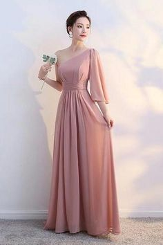 Red Bean Prom Dress One Shoulder Bridesmaid Dress Sister Group Long Dress Temperament Party Dress Long Banquet Evening Dress Wedding Party Dresses, Prom Dresses, One Shoulder Bridesmaid Dresses, Unicorn Pictures, Lace Evening Dresses, Dress First, Store, Color, Fashion