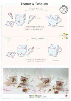 종이접기 도안 -커피잔 종이접기. 컵 종이접기, 컵 색종이접기, 종이접기 찻잔, 종이접기 장미,Origami di... Origami Diagrams, Tea Pots, Tableware, Design, Dinnerware, Tablewares, Tea Pot, Dishes
