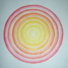 Age 12 ~ Geometric Drawing ~ Concentric Circles ~ main lesson book