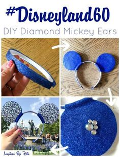 Mickey Ears at Disneyland is like peanut butter and jelly. Save money and have tons of fun with these 14 magical DIY Mickey Ears. Disney Diy, Diy Disney Ears, Disney Mickey Ears, Disney Crafts, Disney Trips, Mickey Ears Diy, Mini Mouse Ears Diy, Mickey Mouse Ears Headband, Disney Babies