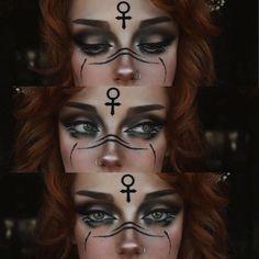Makeup Inspo, Makeup Art, Makeup Inspiration, Cosplay Makeup, Costume Makeup, Weiblicher Elf, Viking Makeup, Rave Makeup, Eye Makeup Designs