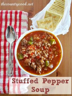 Stuffed Pepper Soup! @Debbie Cullen - This made me think of Michael.