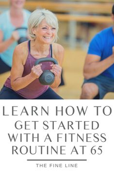 Get Started With a Fitness Routine at 65 For those in the age group, exercise is a major key to health and well-being. Learn how to get started with a fitness routine in your or Health And Beauty, Health And Wellness, Health Tips, Health Fitness, Health Club, Group Health, Muscle Fitness, Yoga Routine, Senior Fitness