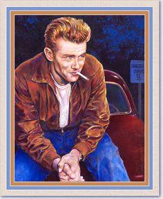 "Painted CelebritiesFrom Dale Lewis ""James Dean"""