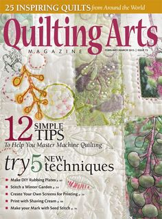 Quilting Arts Magazine February/March 2015 | InterweaveStore.com