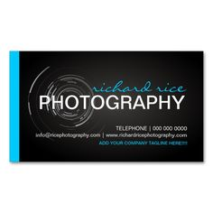 Bold And Modern Photographer Business Cards This Is A Fully Customizable Card Available