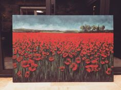 Poppy field by Steph Parker (Acrylic on canvas)