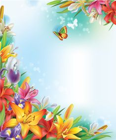 Beautiful lilies art background design free vector in encapsulated Frame Background, Paper Background, Vector Background, Boarders And Frames, Boarder Designs, 2 Clipart, Printable Frames, Borders For Paper, Arte Floral