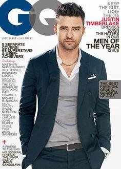Justin Timberlake, guapísimo, en la [PORTADA] de la edición de Hombres del Año 2013 de GQ