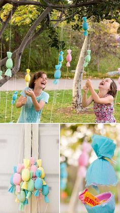 Turn the plastic eggs into candy filled poppers, and then hang them on a outdoor tree and let children pull and pop, gathering candy as they go. Top 27 Cute and Money Saving DIY Crafts to Welcome The Easter