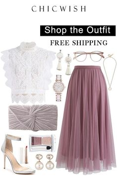 Up to Off. My Secret Weapon Tulle Midi Skirt and Your Sassy Start Sleevel Look Fashion, Hijab Fashion, Fashion Dresses, Womens Fashion, Fashion Tips, Classy Outfits, Chic Outfits, Vetements Shoes, Outfit Elegantes